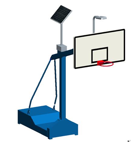 XLL010T箱式太阳能篮球架