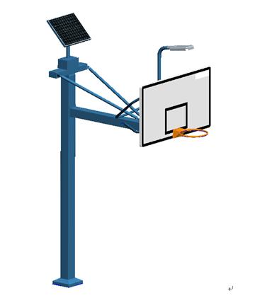 XLL013T方管太阳能篮球架
