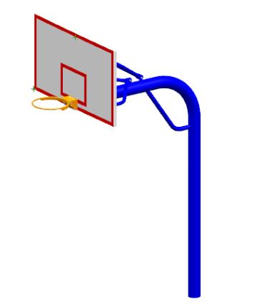 XLL019直埋篮球架